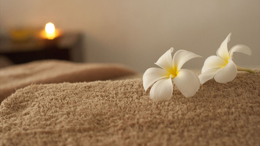 Flowers on Towel