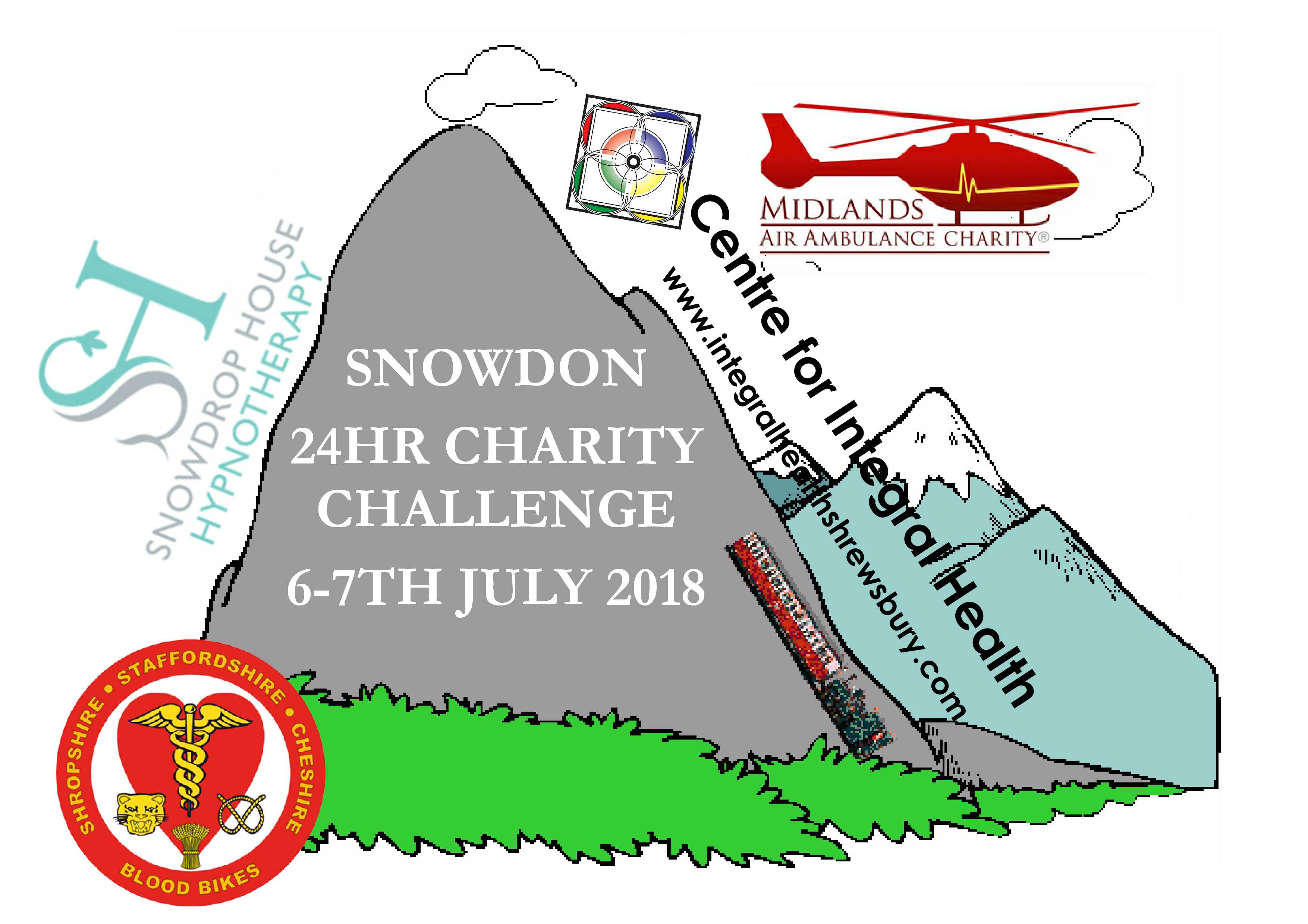 Centre for Integral Health Fundraising For Midlands Air Ambulance & Blood Bikes in there 24hr Snowdon Challenge